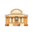 public building facade theatre bank or shop vector image vector image
