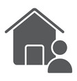 real estate agent glyph icon real estate and home vector image vector image