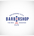 retro barbershop abstract sign emblem or vector image vector image