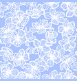 sakura seamless pattern in hand-drawn style vector image