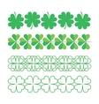 set clover ornaments vector image vector image