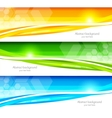 Set of banners with hexagons vector image vector image