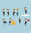 set of businessman flat design vector image vector image
