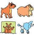 Set of cartoon funny dogs cartoon vector image vector image