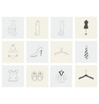 set with different wardrobe clothes and hanger vector image