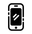 smartphone solid vector image