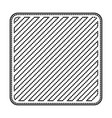 square emblem in monochrome dotted contour and vector image vector image