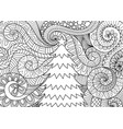 storm flow and christmas tree vector image vector image