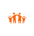 together family parent and children logo icon vector image
