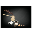 Turkish Coffee Popular Beverage in Turkey vector image vector image