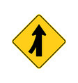 usa traffic road signs merging traffic entering vector image vector image