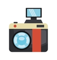 Vintage camera isolated flat icon vector image vector image