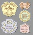 vintage retro floral label badges vector image