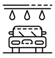 water drop car wash icon outline style vector image