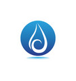 water drop logo template design vector image