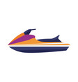 water jet ski scooter icon vector image vector image