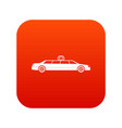 wedding car decoration icon digital red vector image vector image
