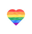 scribble colored heart icon vector image