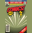 comic book background with cartoon burst vector image