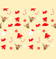 abstract christmas seamless pattern background vector image