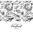 seafood hand drawn framed