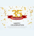 35 years anniversary banner template vector image