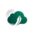 abstract cloud arrow logo design template vector image