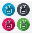 After opening use 6 months sign icon vector image vector image