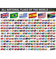 all national flags of the world adhesive paper vector image vector image