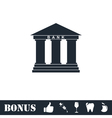 Bank icon flat vector image vector image