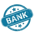 BANK round stamp vector image