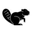 beaver icon sign on isolate vector image