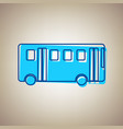 bus simple sign sky blue icon with vector image vector image