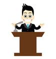 businessman presenting his ideas vector image vector image