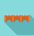 city bridge icon flat style vector image vector image