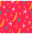 Colored pattern with stars and moons Endless vector image