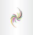colorful business design element decoration vector image vector image