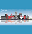 concord new hampshire city skyline with gray vector image