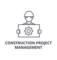 construction project management line icon vector image vector image