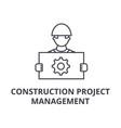 construction project management line icon