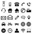 contact icon collection for business vector image vector image