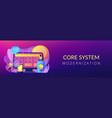 core system development concept banner header vector image vector image