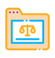 court folder law and judgement icon vector image