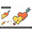cupid arrow line icon vector image
