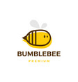 cute bumble bee logo icon vector image