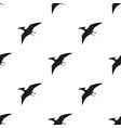dinosaur pterodactyloidea icon in black style vector image vector image