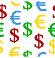 Dollar euro seamless pattern vector image