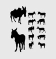 Donkey Silhouettes vector image vector image