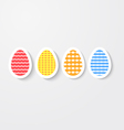 Easter eggs colored with ornaments vector image vector image