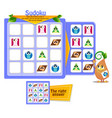 educational sudoku shapes vector image vector image